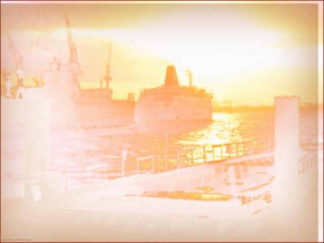 Aquarell Hafen Hamburg